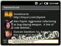 Скриншот TwitterDroid - apk