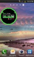 Скриншот Glowing Neon Clock Widget
