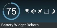 Скриншот Battery Widget Reborn