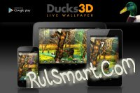 Скриншот Ducks 3D Live Wallpaper