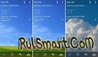 Скриншот Transparent clock & weather