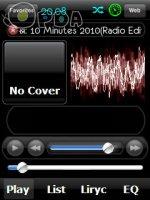 Скриншот  IPhone skin for ttpod