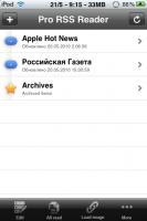 Скриншот Pro RSS Reader