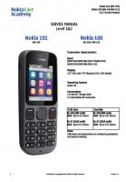 Скриншот Nokia 100, 101 RM-769, RH-130, 131 - Руководство по обслуживанию (service manual L1&L2)