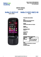 Nokia C2-02, С2-03, C2-06, С2-07, С2-08 RM-692, 693, 702 - Руководство по обслуживанию (service manual L1&L2)