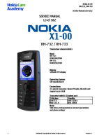 Nokia X1-00 RM-732, 733 - Руководство по обслуживанию (service manual L1&L2)
