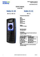 Nokia Х1-00, X1-01 RM-713, 732, 733 - Руководство по обслуживанию (service manual L1&L2)