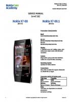 Nokia Х7-00, Х7-01 RM-659, 707 - Руководство по обслуживанию (service manual L1&L2)