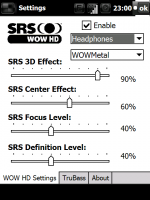 Скриншот SRS WOW HD