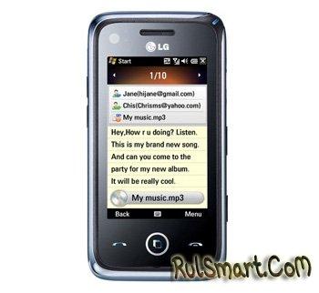 GM750 — новый WinMobile-смартфон LG