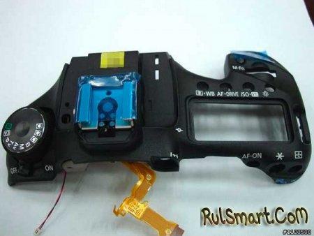 Запечатлена верхняя часть камеры Canon EOS 7D