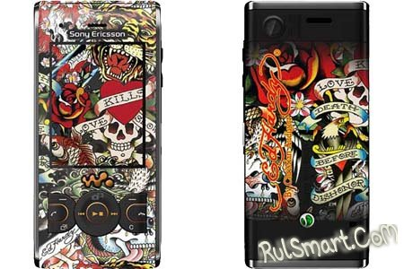 Татуированный Sony Ericsson W595 Ed Hardy Edition