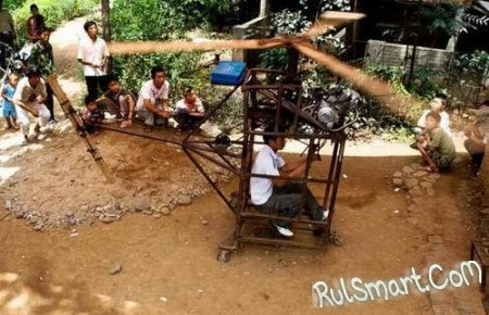Китайский фермер смастерил вертолет