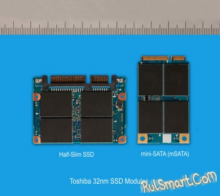 Toshiba готовит миниатюрные SSD