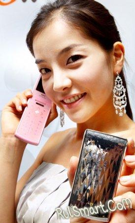 Pantech Crystal (IM-S500K) – раскладной телефон для женщин