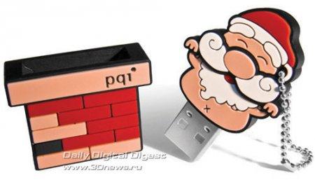 Рождественская USB-флешка PQI