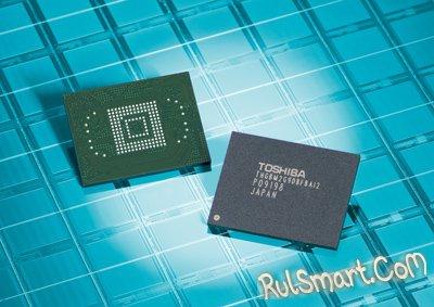 Toshiba создала модуль памяти NAND с рекордной емкостью в 64 ГБ