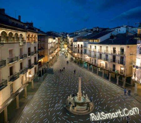 Современное освещение: испанская площадь выстлана 1230 LED