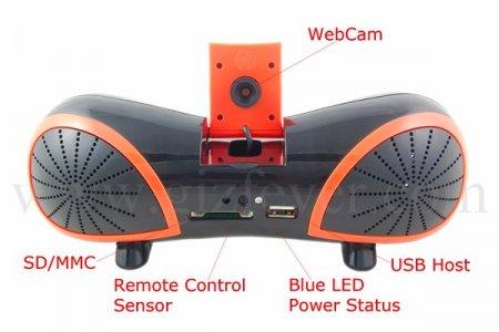 Странная аудиосистема с веб-камерой и микрофоном