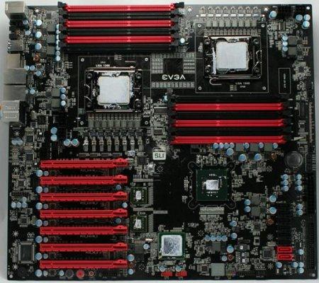 """плата с двумя LGA 1366 """"во весь рост"""""""