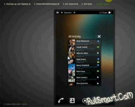 Видео интерфейса ОС MeeGo для смартфонов