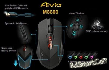 GIGABYTE Aivia M8600: беспроводная геймерская мышь – анонсирована