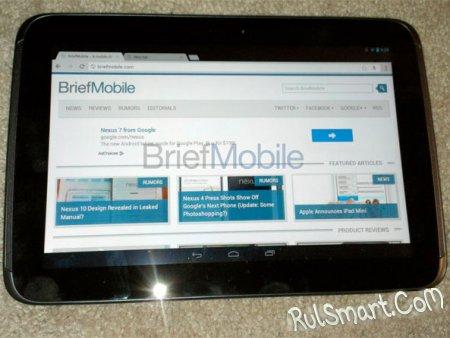 Планшет Nexus 10 показался на видео