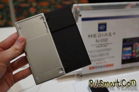 NEC Medias W: смартфон-раскладушка с двумя экранами