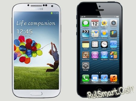 ������������� Samsung Galaxy S4 ���� iPhone 5