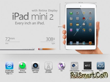 iPad mini 2 не получит дисплей Retina