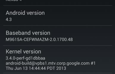 Sony Xperia Z и ZL получили Android 4.3 AOSP