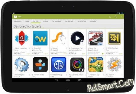 Сортировка приложений в Google Play будет адаптирована под планшеты
