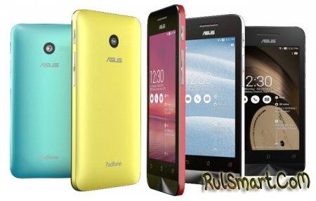CES 2014: бюджетные смартфоны ASUS Zenfone 4, 5, 6