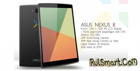 Android 4.5 и планшет Nexus 8: первая информация