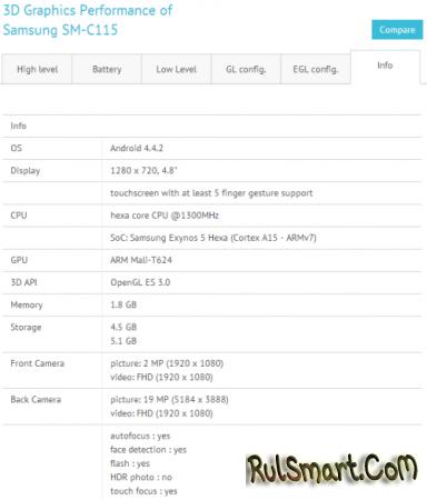 Samsung Galaxy S5 Zoom - флагманский камерофон