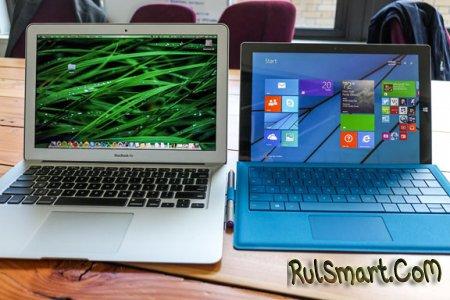 Surface Pro 3 против MacBook Air