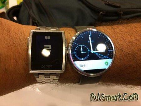 Сравнение умных часов: Moto 360 и Pebble Steel