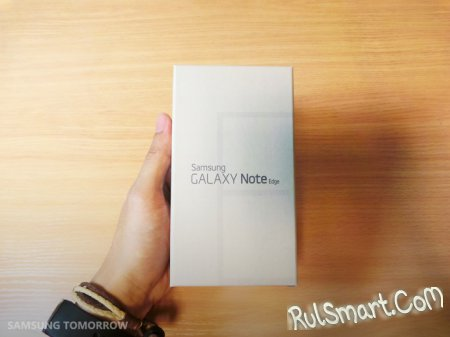 Samsung Galaxy Note Edge: официальная распаковка