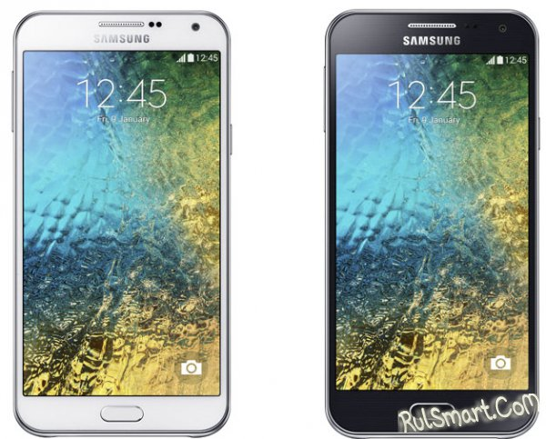 Samsung Galaxy E5 и Galaxy E7 - CES 2015