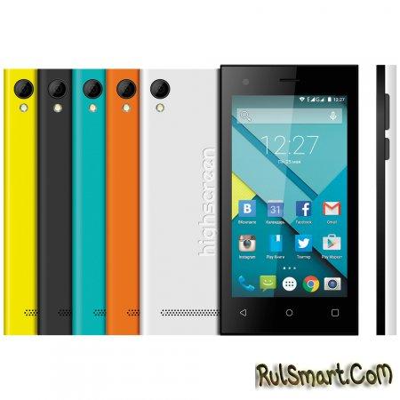Highscreen Pure F - доступный смартфон c ярким дизайном