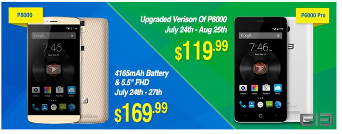 Скидки от Everbuying: Elephone P6000 Pro и Elephone P8000