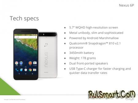 Рассекречены точные характеристики Huawei Nexus 6P