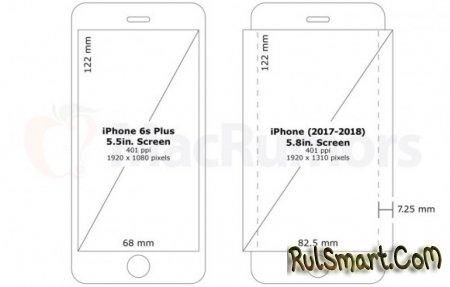 iPhone 8 получит 5,8-дюймовый OLED-дисплей от Samsung