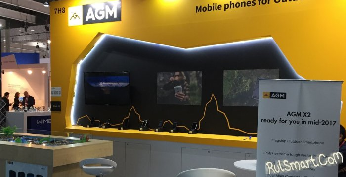 AGM на MWC 2017: новые флагманские смартфоны со Snapdragon 8xx на борту
