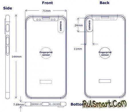 iPhone 8: первый чертеж и рендер нового айфона