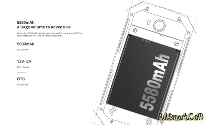 Защищенный смартфон DOOGEE S60 с беспроводной зарядкой стоит $339