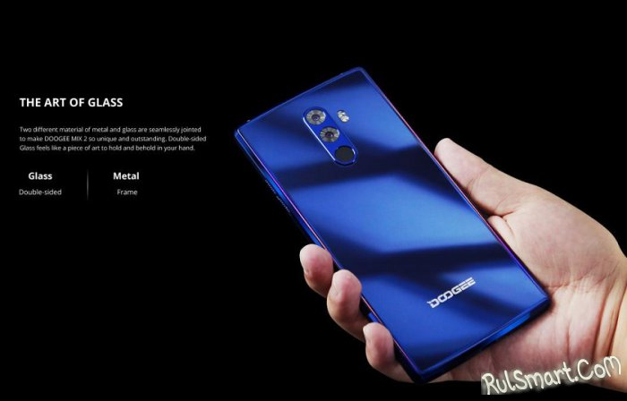 DOOGEE MIX 2: мощный безрамочный смартфон с технологией Face ID оценен в $199