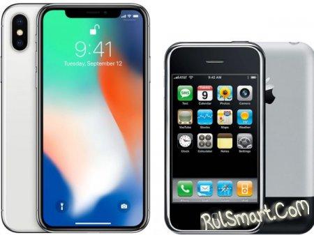 Сравнение смартфонов: новый Apple iPhone X против iPhone 2G