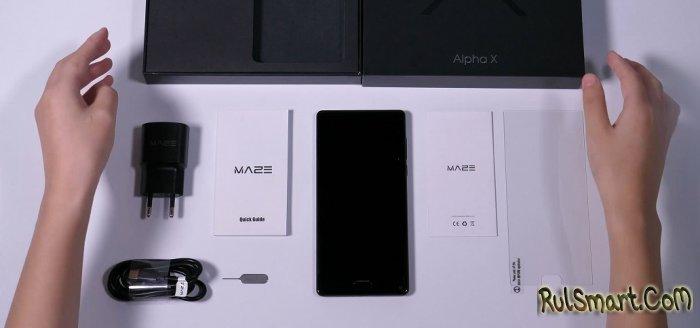 Распаковка безрамочного смартфона Maze Alpha X с Helio P25 (видео)