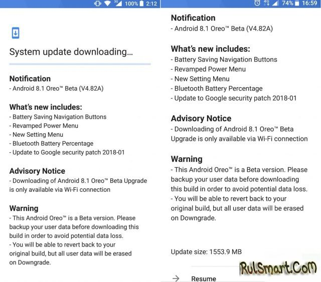 Nokia 8 обновляется до Android 8.1 Oreo (beta)